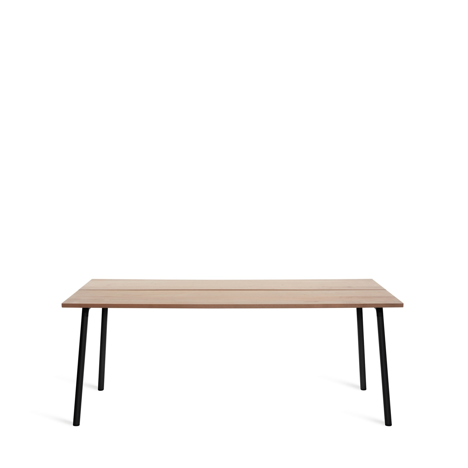 Run Dining Table Rectangular 183cm, Black Powder Coated, Cedar