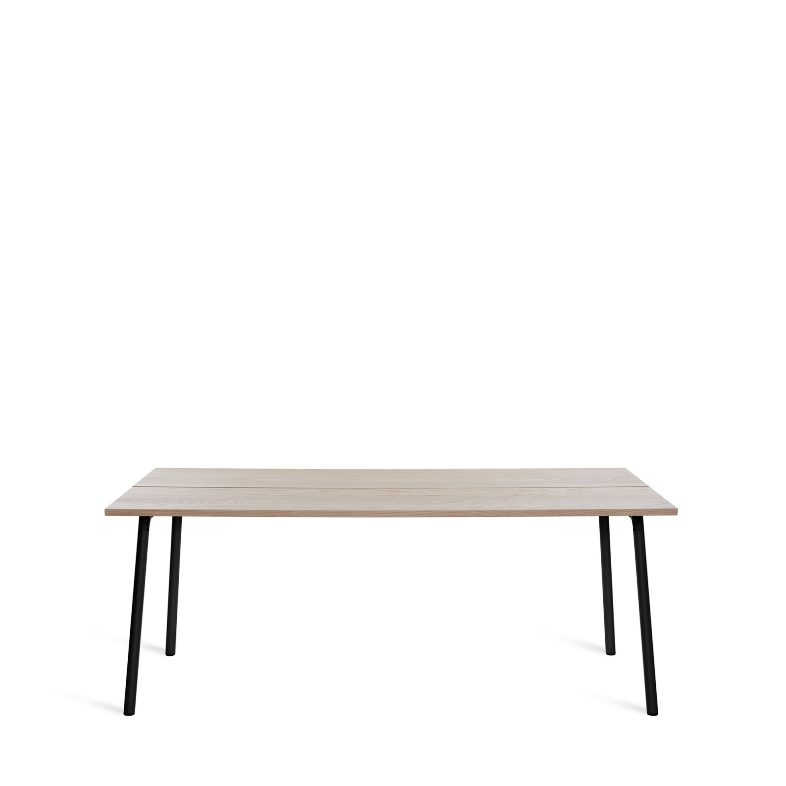Run Dining Table Rectangular 183cm, Black Powder Coated, Ash