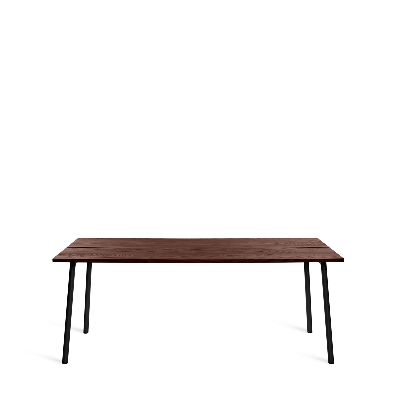 Run Dining Table Rectangular 183cm, Black Powder Coated, Walnut
