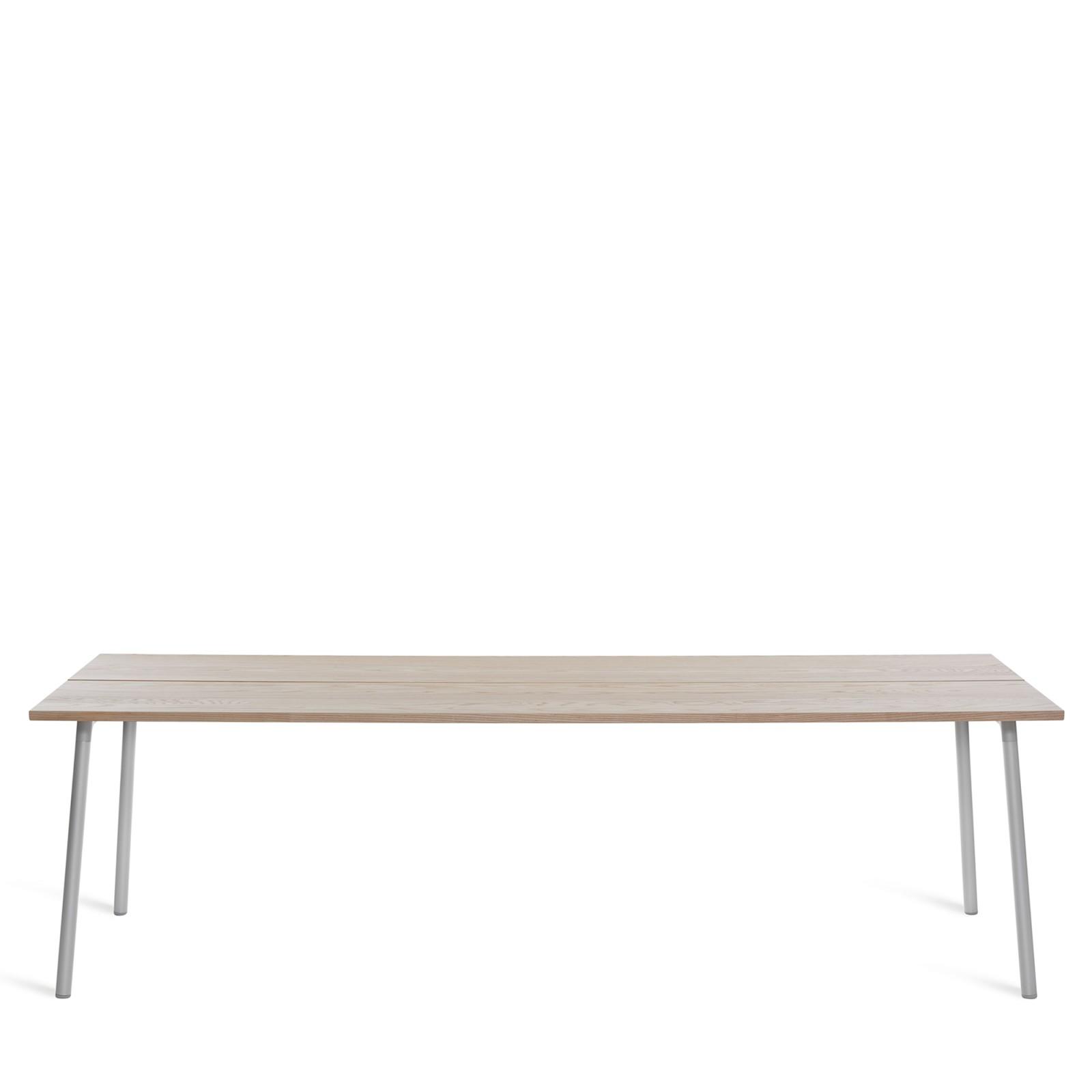 Run Dining Table Rectangular 244cm, Clear Aluminium, Ash