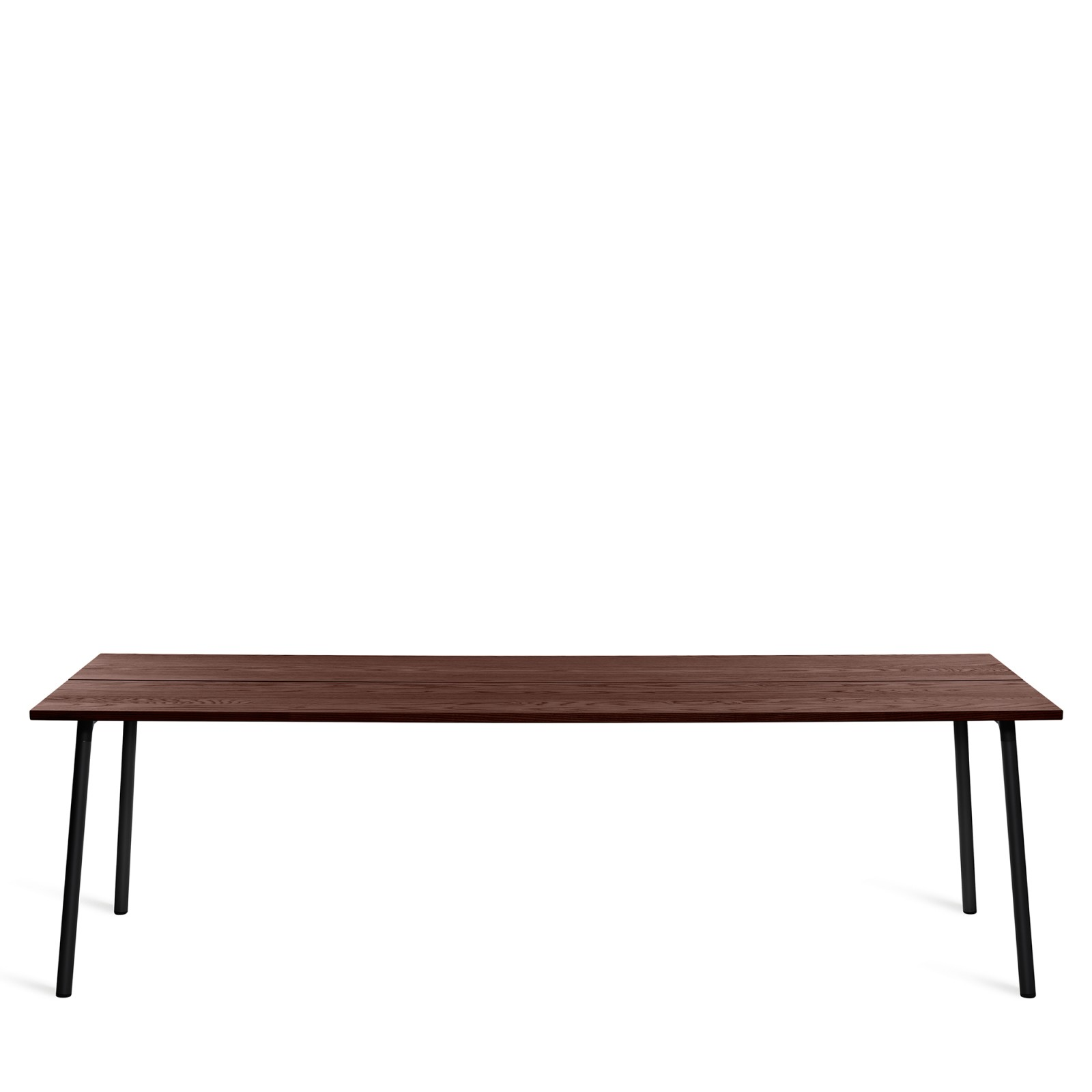 Run Dining Table Rectangular 244cm, Black Powder Coated, Walnut
