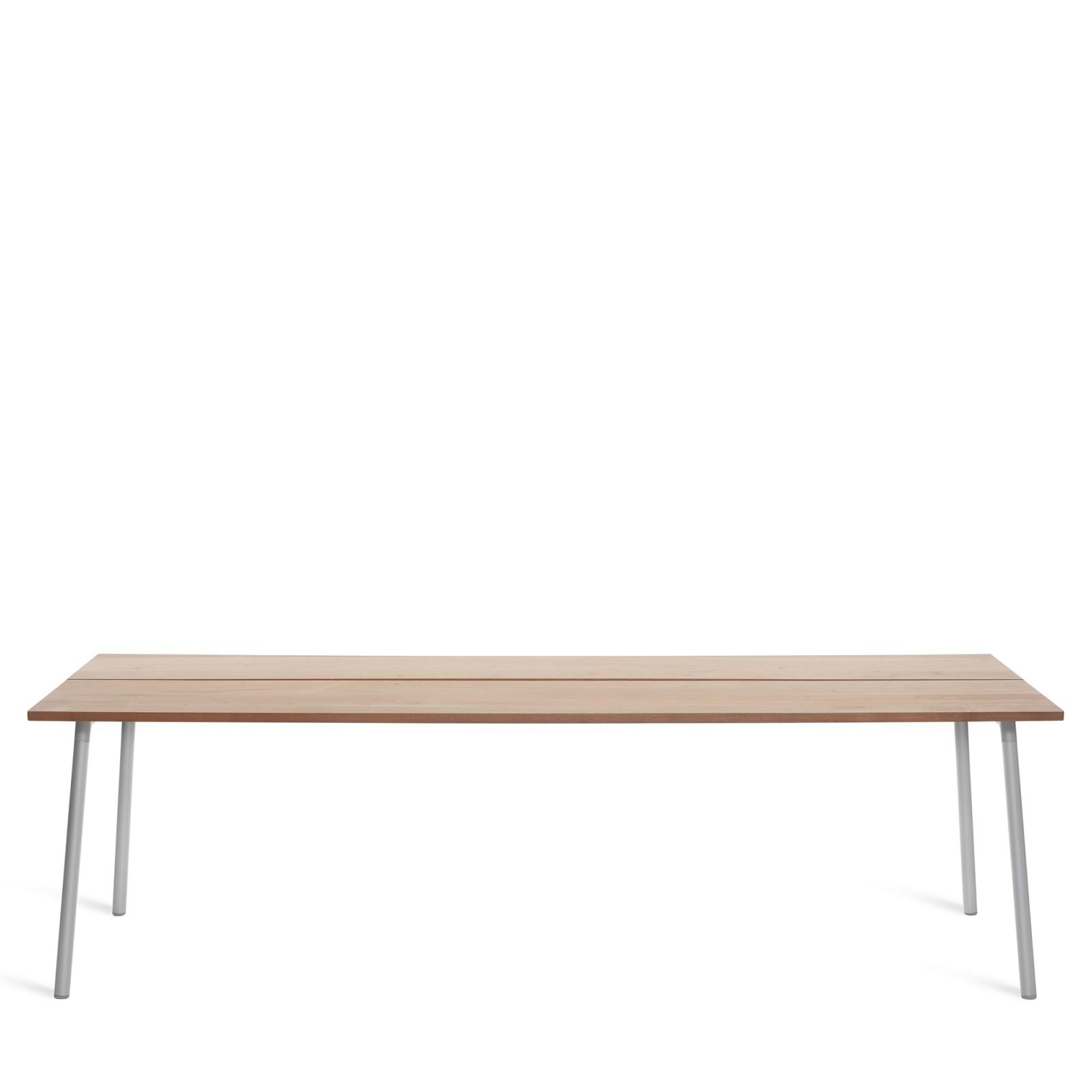Run Dining Table Rectangular 244cm, Clear Aluminium, Cedar
