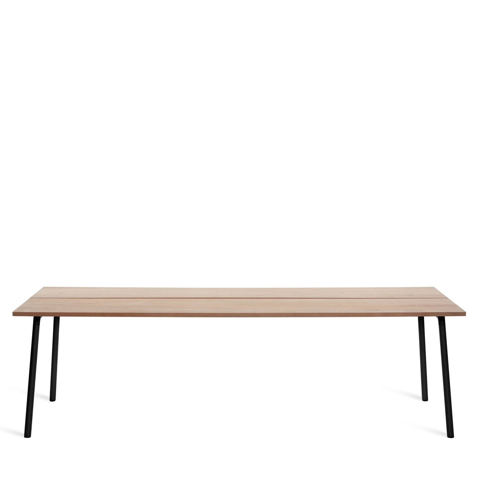 Run Dining Table Rectangular 244cm, Black Powder Coated, Cedar