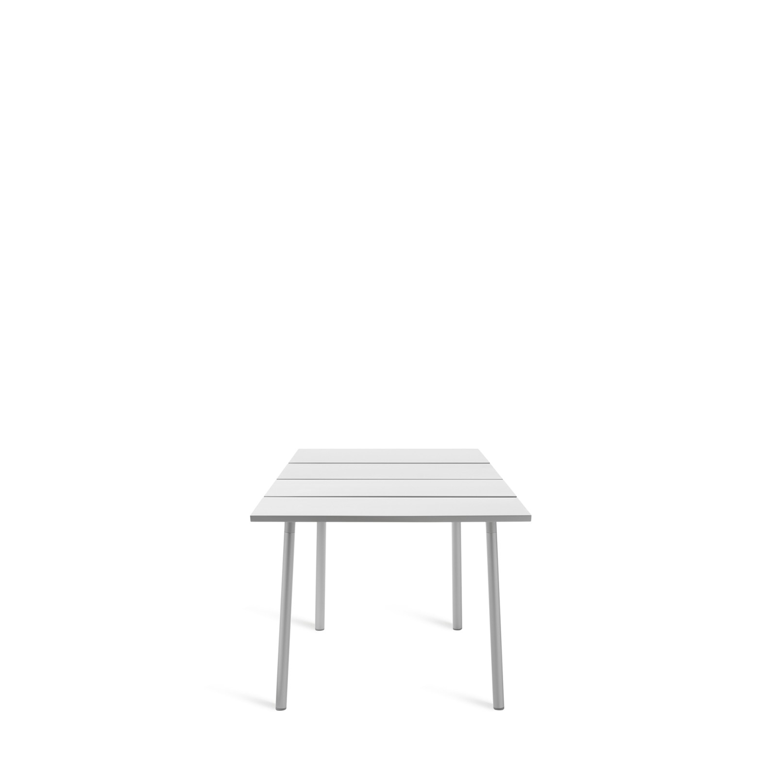 Run Dining Table 83cm, Aluminium, Aluminium Top