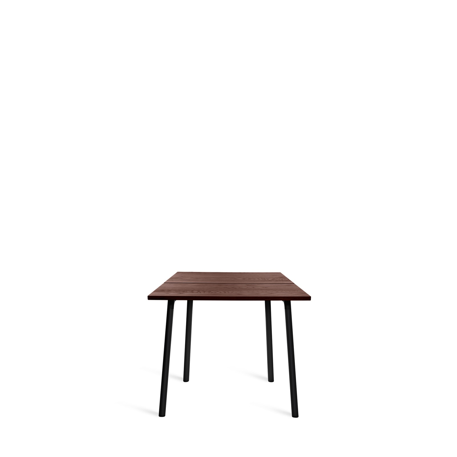 Run Dining Table 83cm, Black, Walnut Top