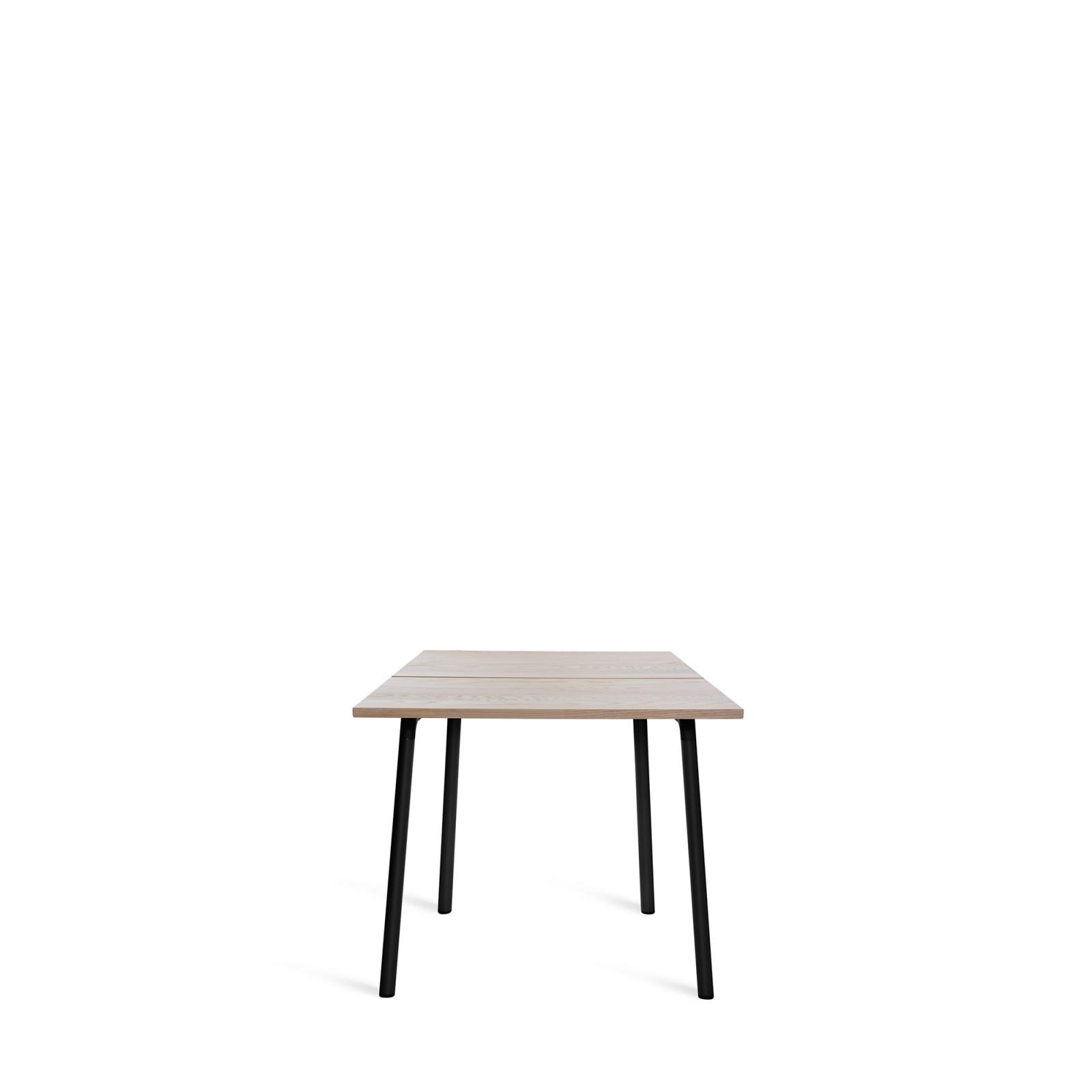 Run Dining Table 83cm, Black, Ash Top