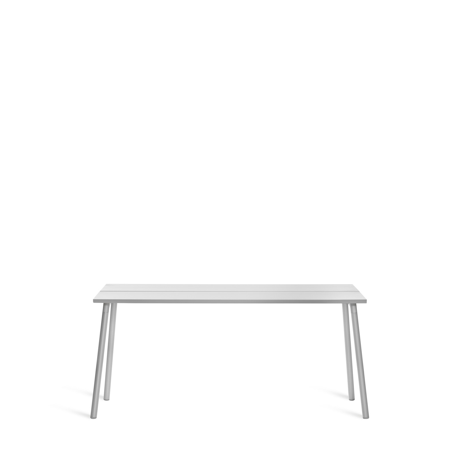 Run Side Table 161.5cm, Clear Aluminium, Aluminium