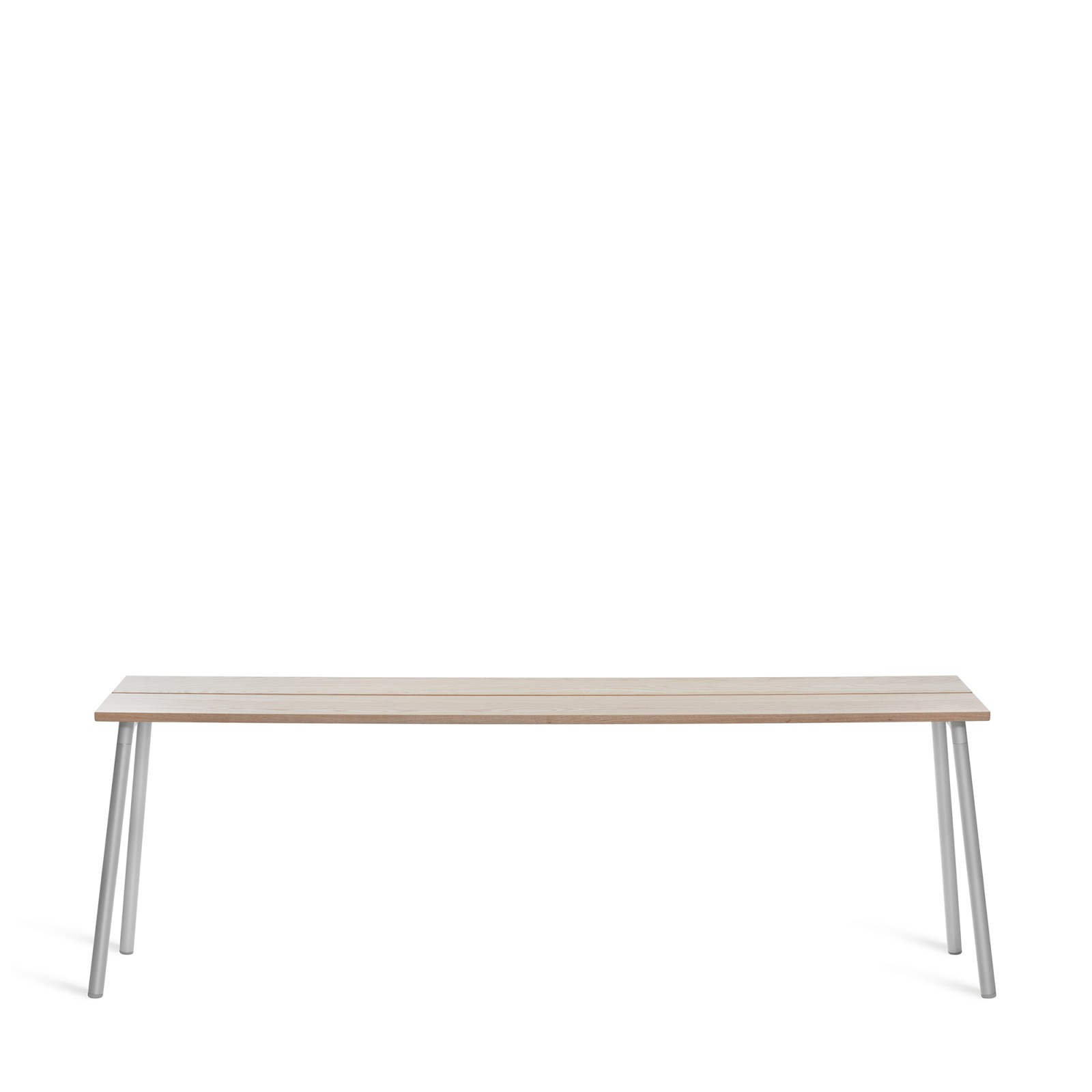 Run Side Table 222.5cm, Clear Aluminium, Ash