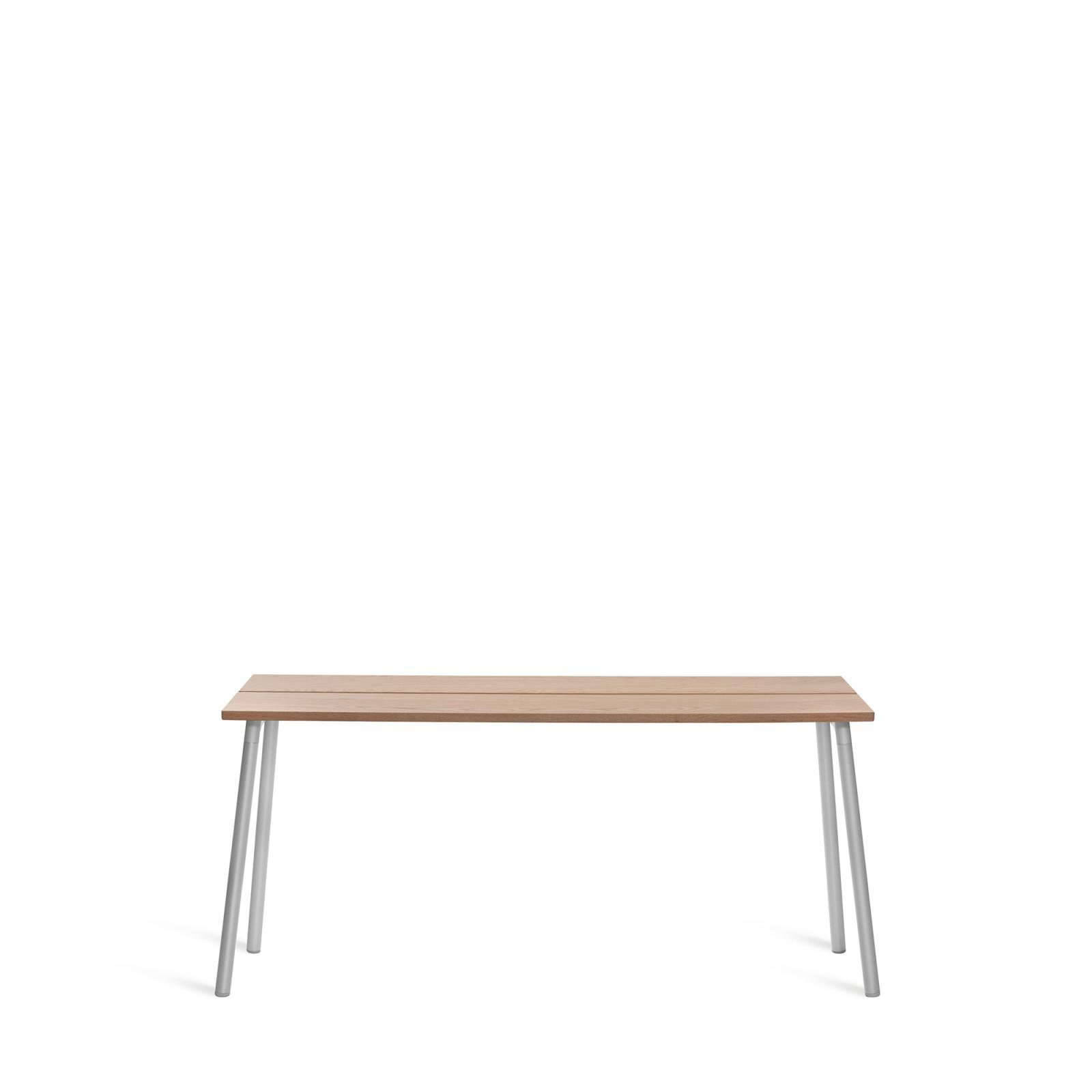 Run Side Table 161.5cm, Clear Aluminium, Cedar
