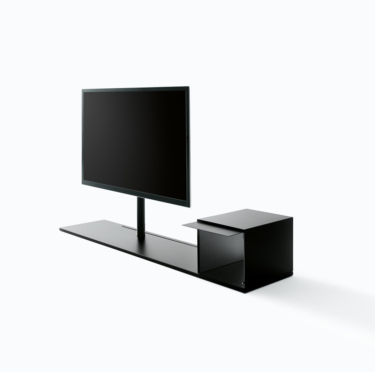 Sail 302 TV Stand System B05, H 94cm, No Shelf, W 190cm, Left TV Positioning, B59 Matt Black thumbnail
