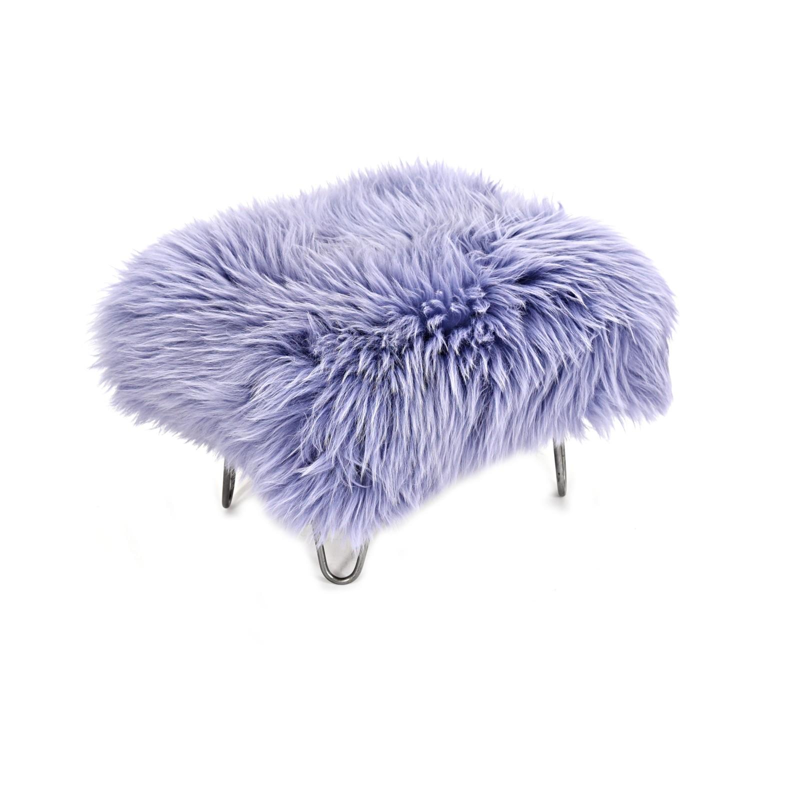 Sara Sheepskin Footstool Lilac