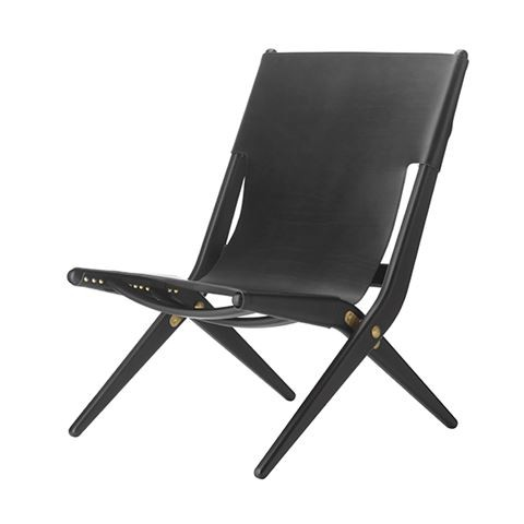 Saxe Chair Black Stained Oak / Black Leather