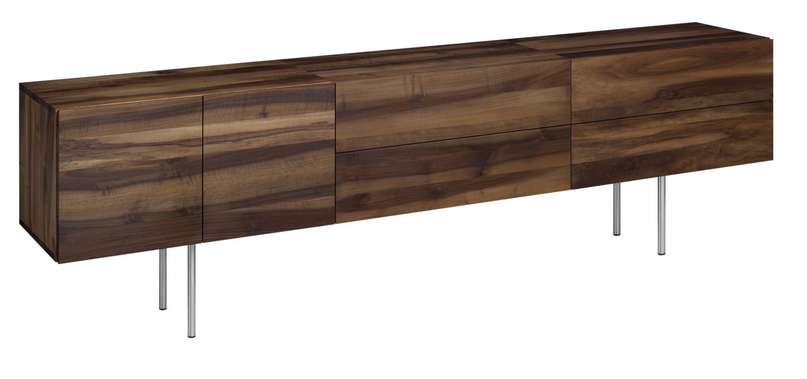 SB07 Shahnaz Wallmounted Sideboard Oiled Oak, Long