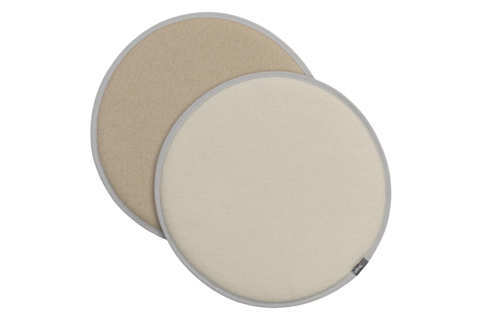 Seat Dots parchment/cream white - tobacco/cream white