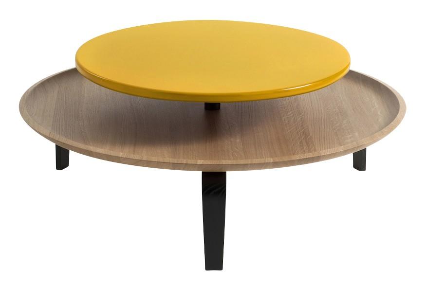 Secreto Coffee Table Yellow, High