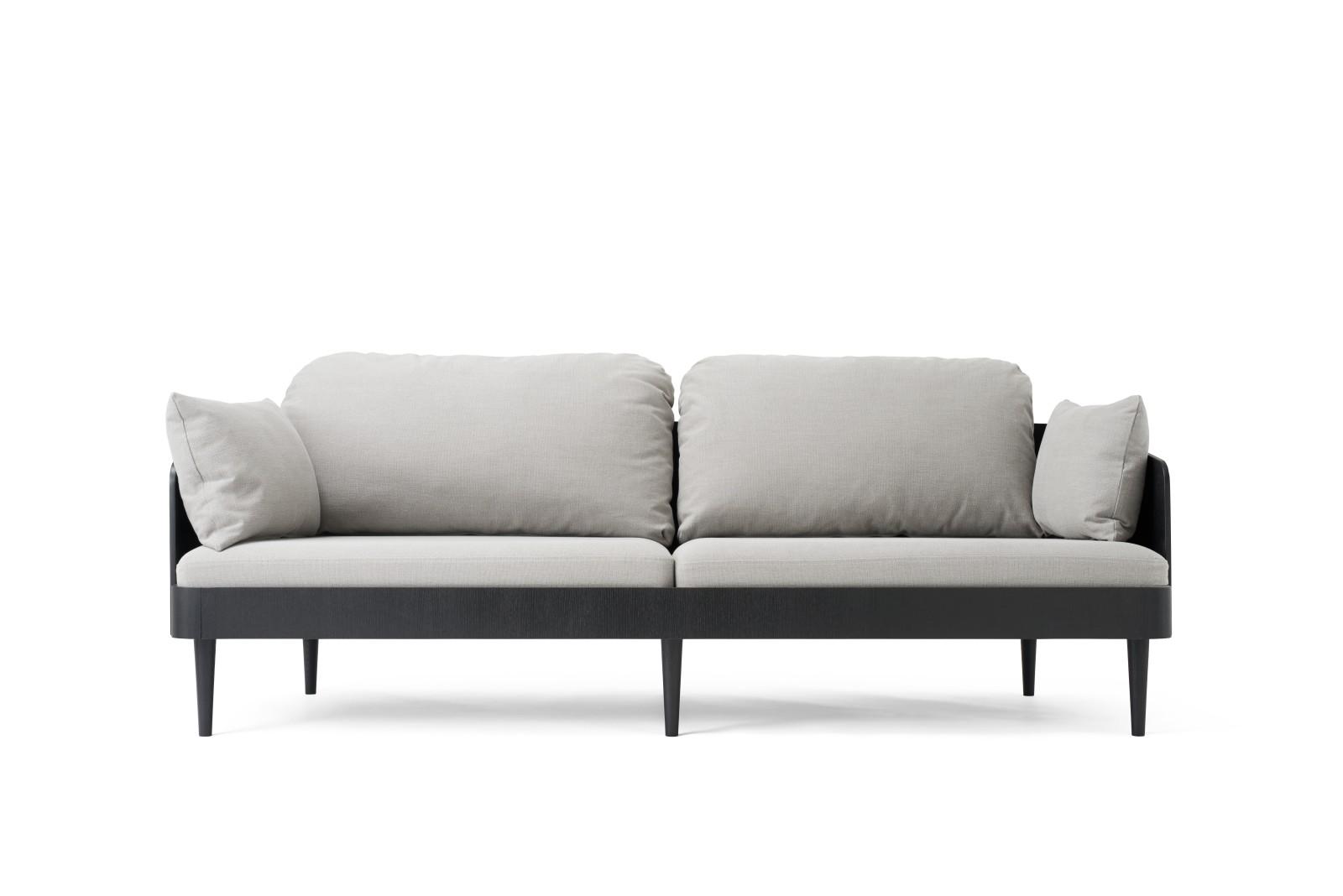 Septembre Sofa Black Ash/Light Grey