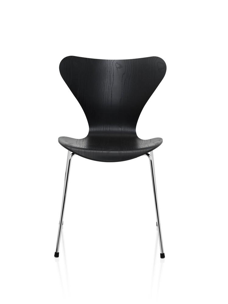Series 7 Chair Coloured Ash Black 195