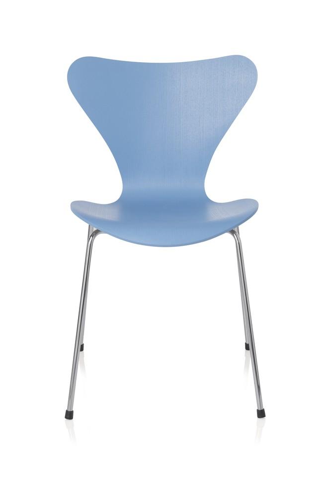 Series 7 Chair Coloured Ash Trieste Blue 845