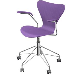 Series 7 Swivel Armchair Coloured Ash Evren Purple 595