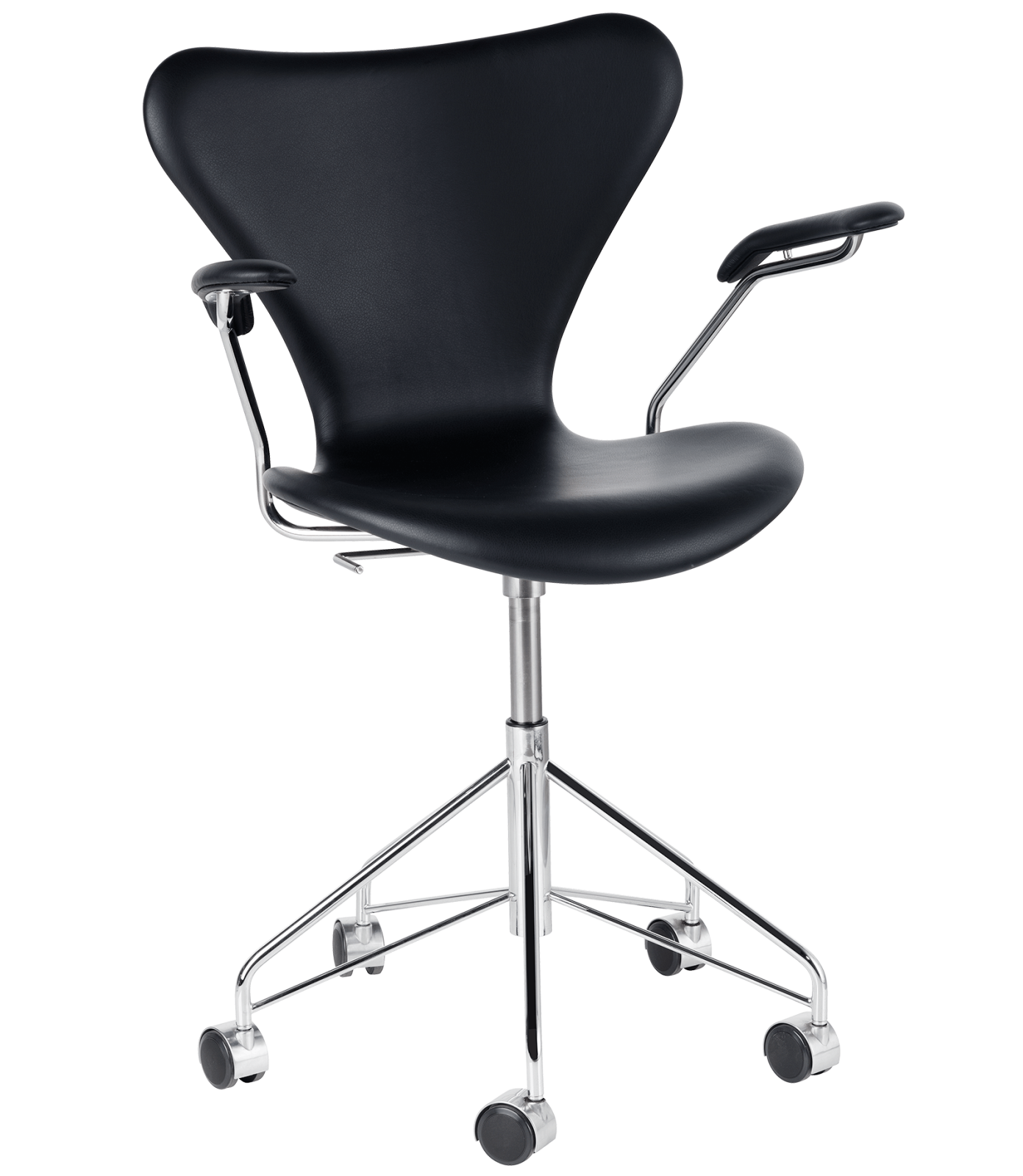 Series 7 Swivel Armchair - fully upholstered Elegance Leather Black