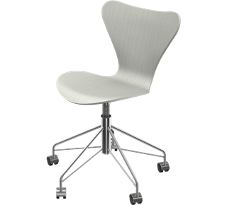 Series 7 Swivel Chair Coloured Ash Nine Grey 155