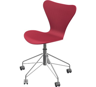 Series 7 Swivel Chair Coloured Ash Opium Red 665