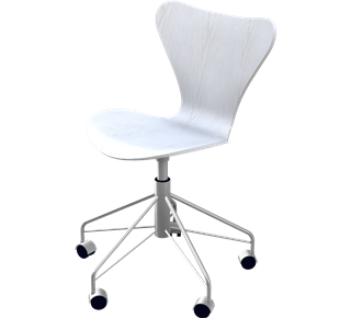 Series 7 Swivel Chair Coloured Ash White 105