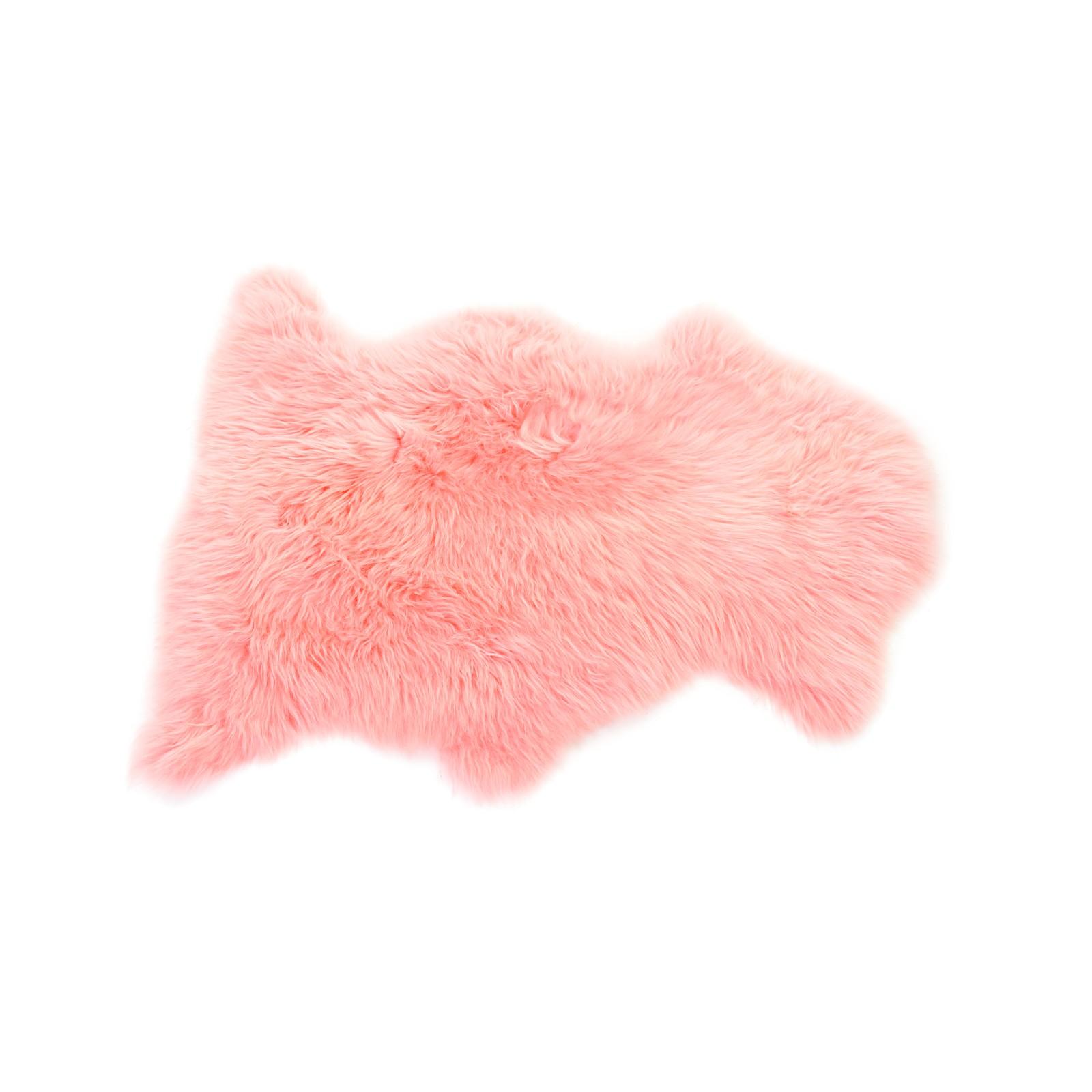 Sheepskin Rug in Baby Pink