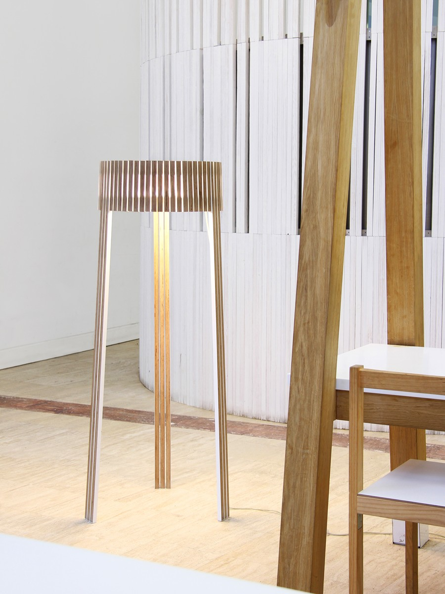 Shio Floor lamp Wengue, No, Transparent Cable