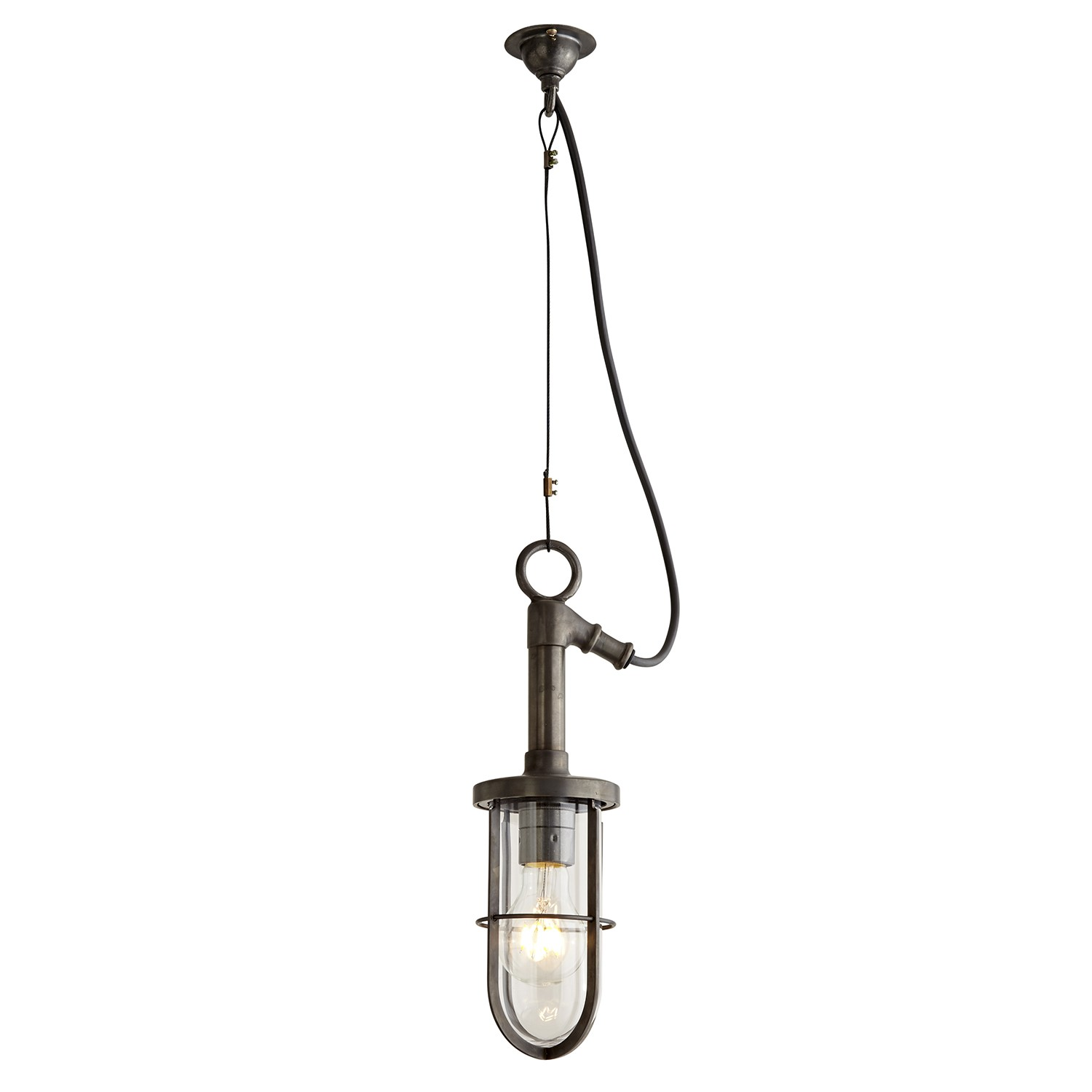 Ship's Well Glass Pendant Light 7524 Frosted Glass