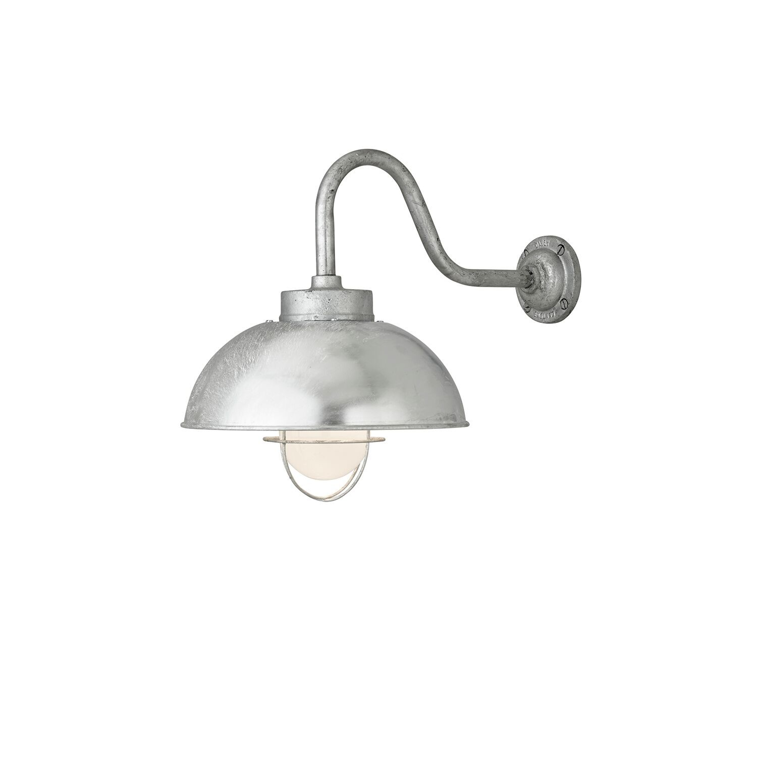 Shipyard Wall Light 7222 Galvanised silver, Frosted glass