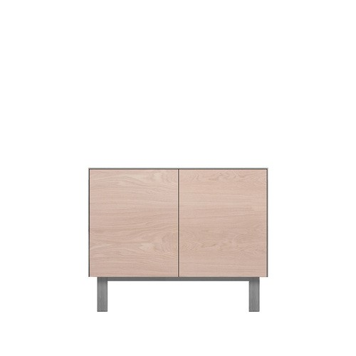 Sideboard 2 Doors Oak, Light Grey