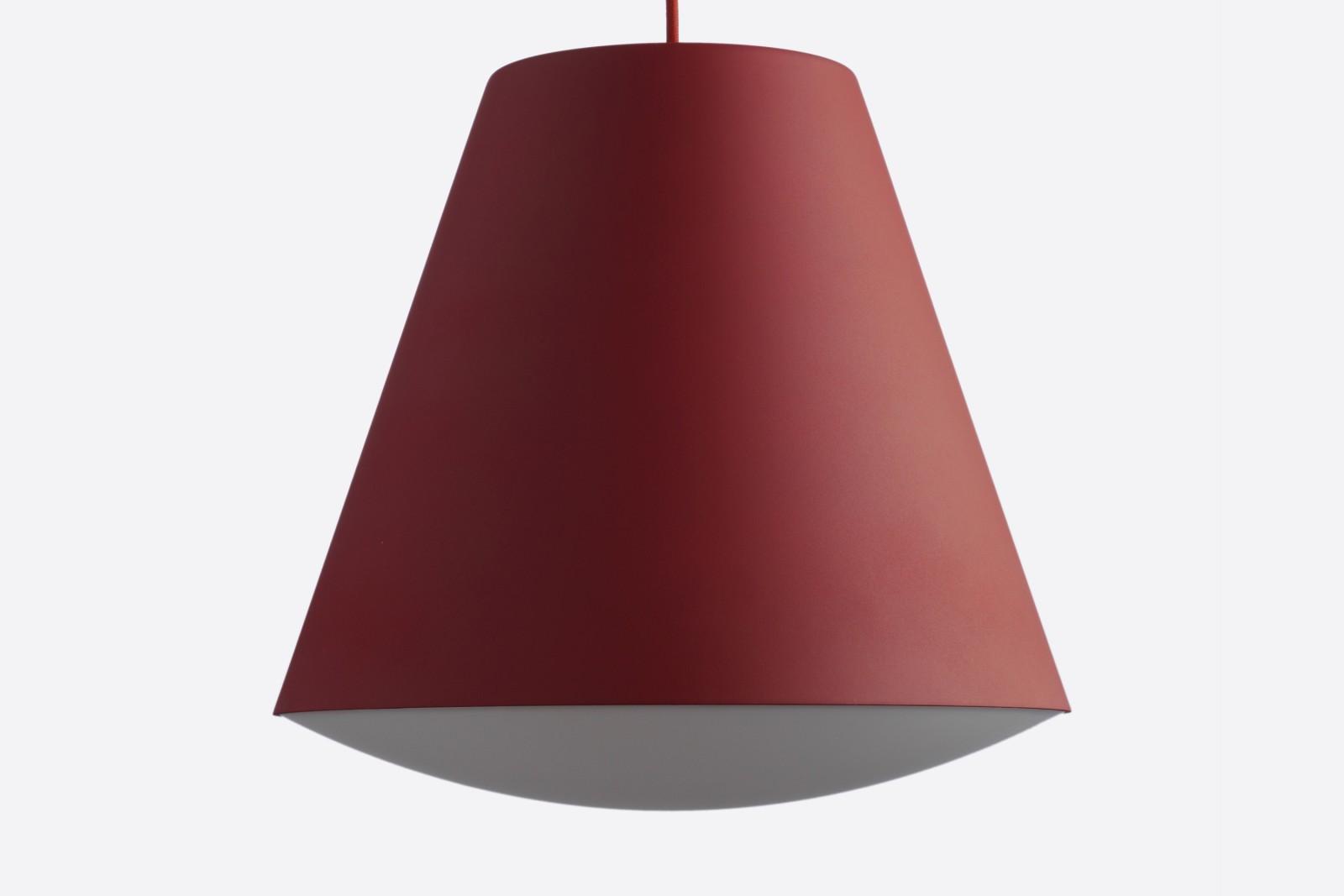 Sinker Pendant Light Red, Large