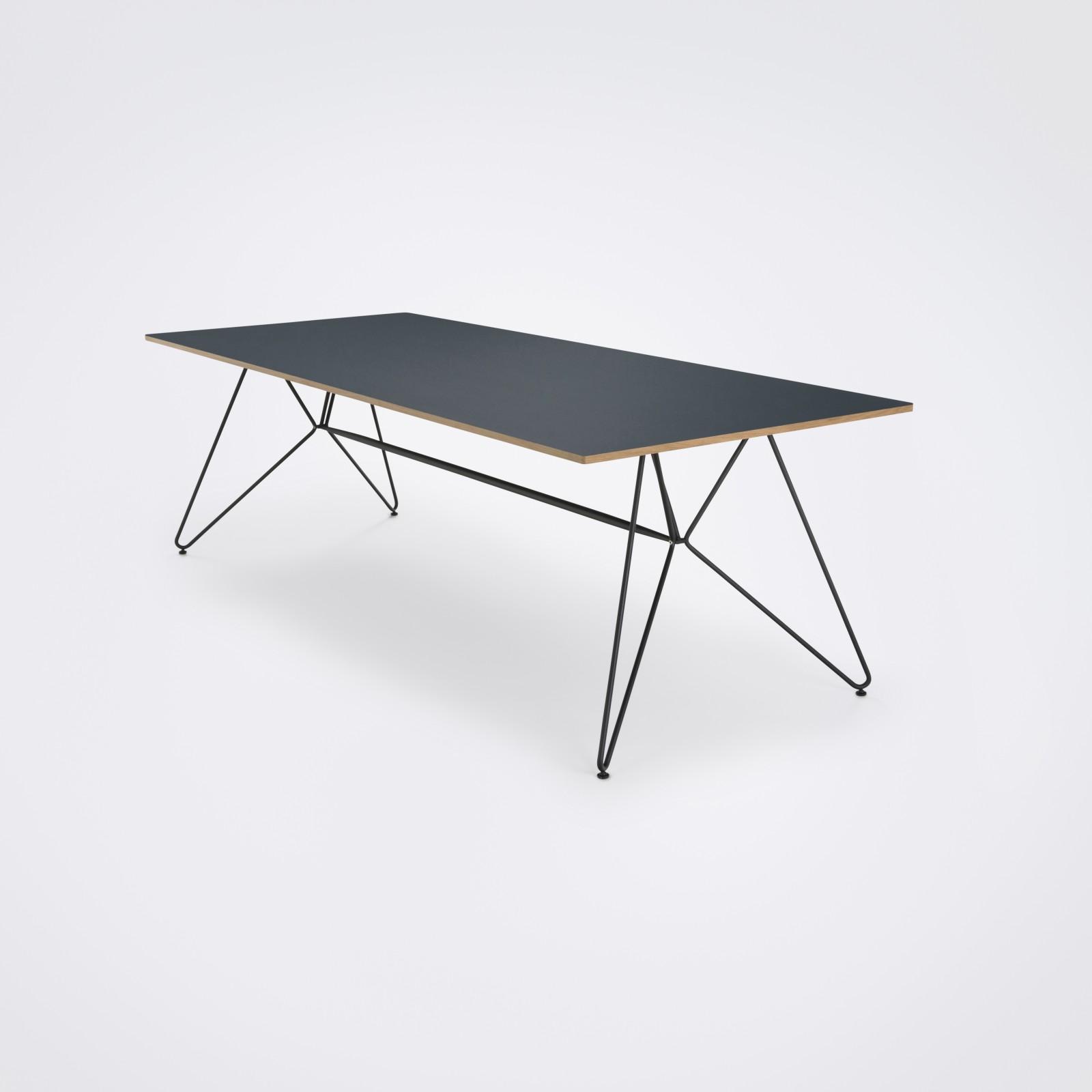Sketch Dining Table - Indoor Smokey Blue Linoleum, 240cm