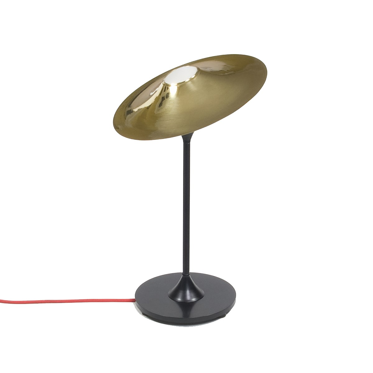 Skew Table Lamp Brass, Black