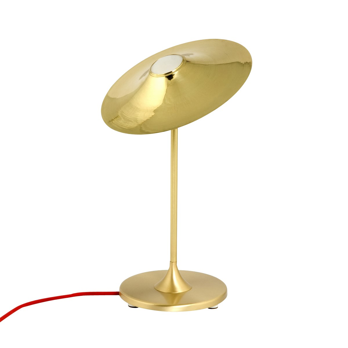 Skew Table Lamp Brass, Red