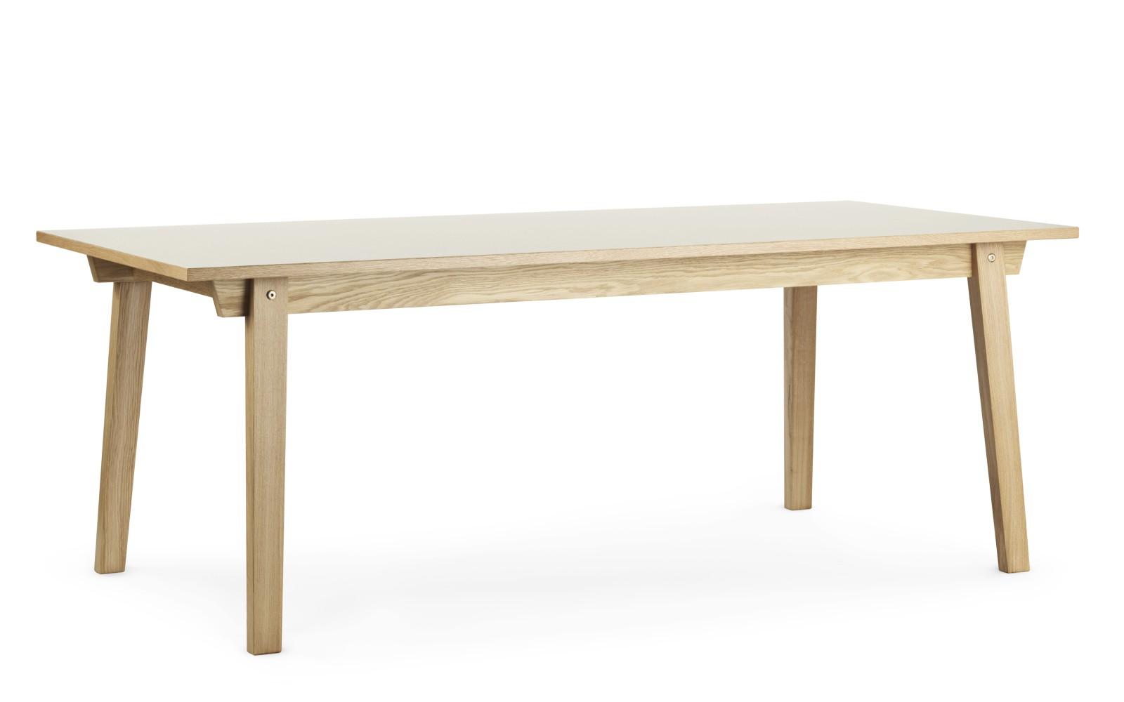 Slice Dining Table Linoleum Creme Top, 90 x 200