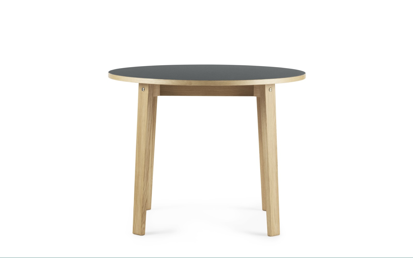 Slice Linoleum Round Dining Table Grey, 0 95 cm