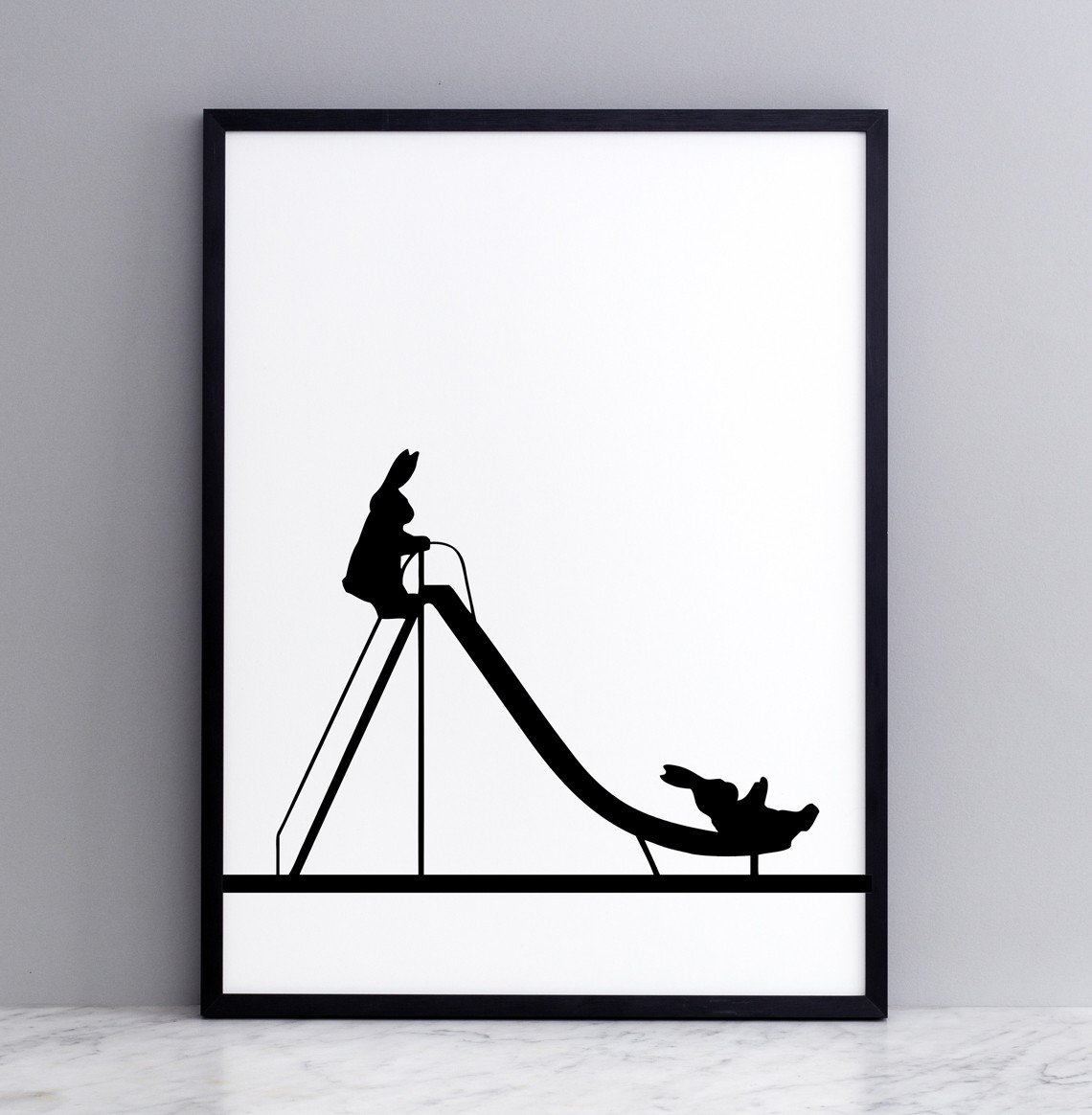 Sliding Rabbit Screen Print Small