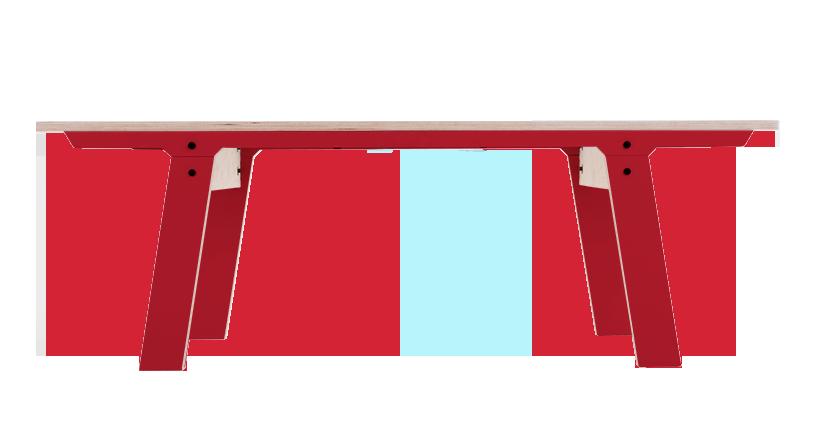 Slim 01 Small Bench Cherry Red