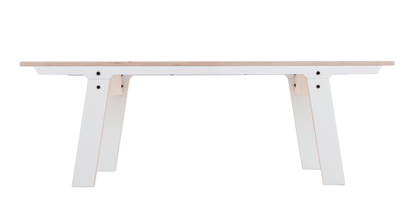 Slim 01 Small Bench Snow White