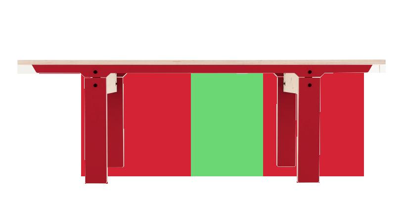 Slim 04 Small Bench Cherry Red