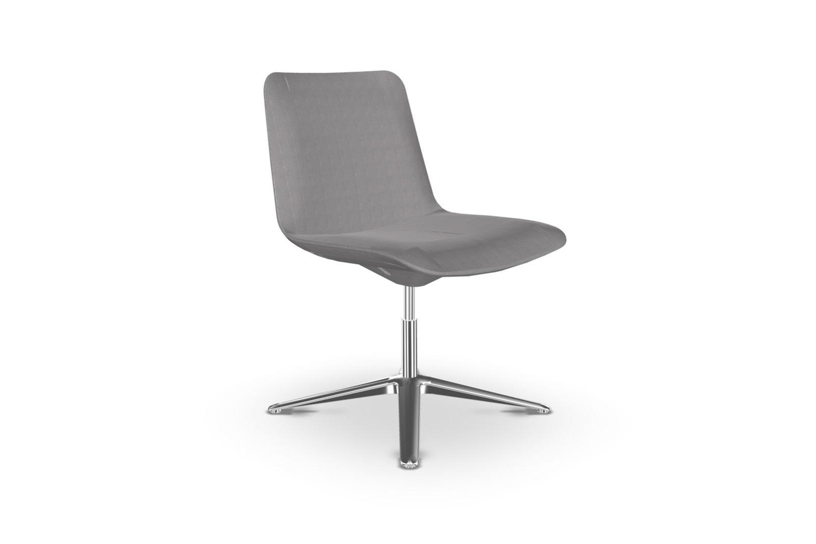 Slim Conference Low 4 805 Chair Chromed Aluminium - CR, Camira Urban - YN094, Tilt