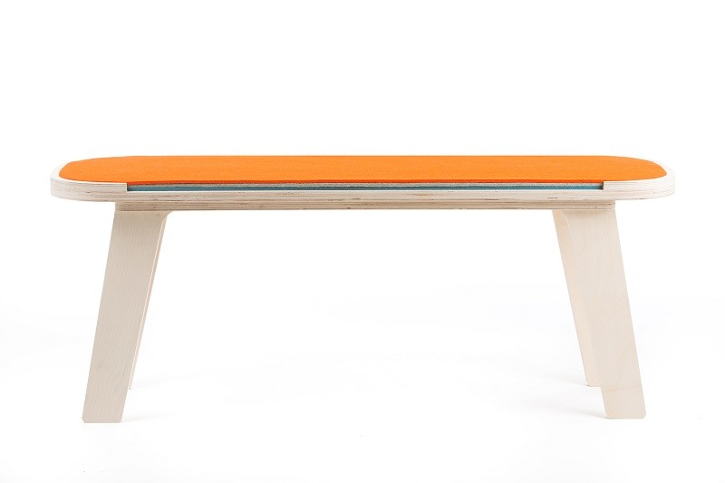 Slim Touch Bench Orange, Grey, Dark Blue