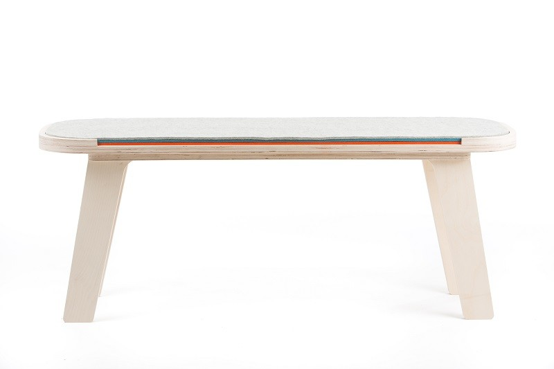 Slim Touch Bench White, Dark Blue, Orange