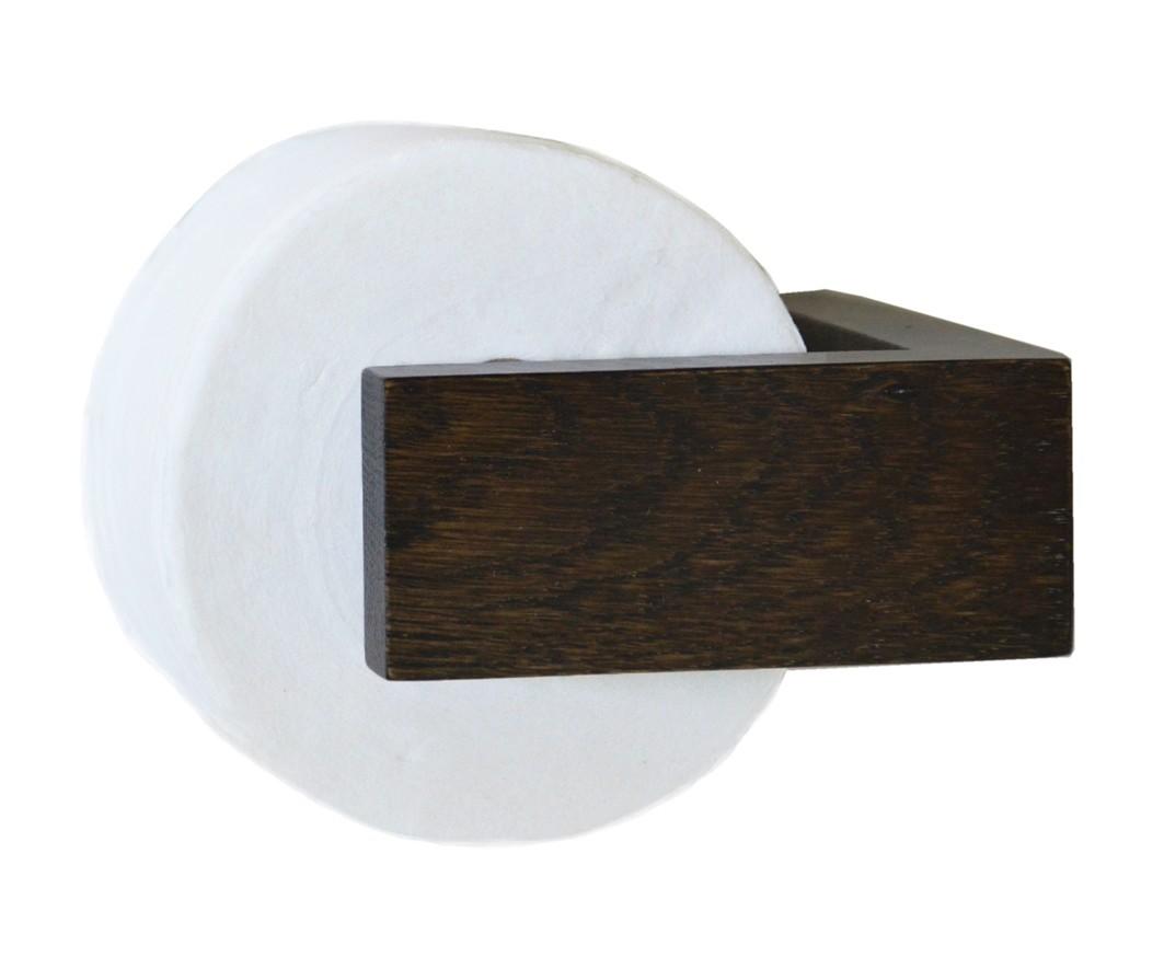 Slimline Toilet Roll Holder Wall Dark Oak