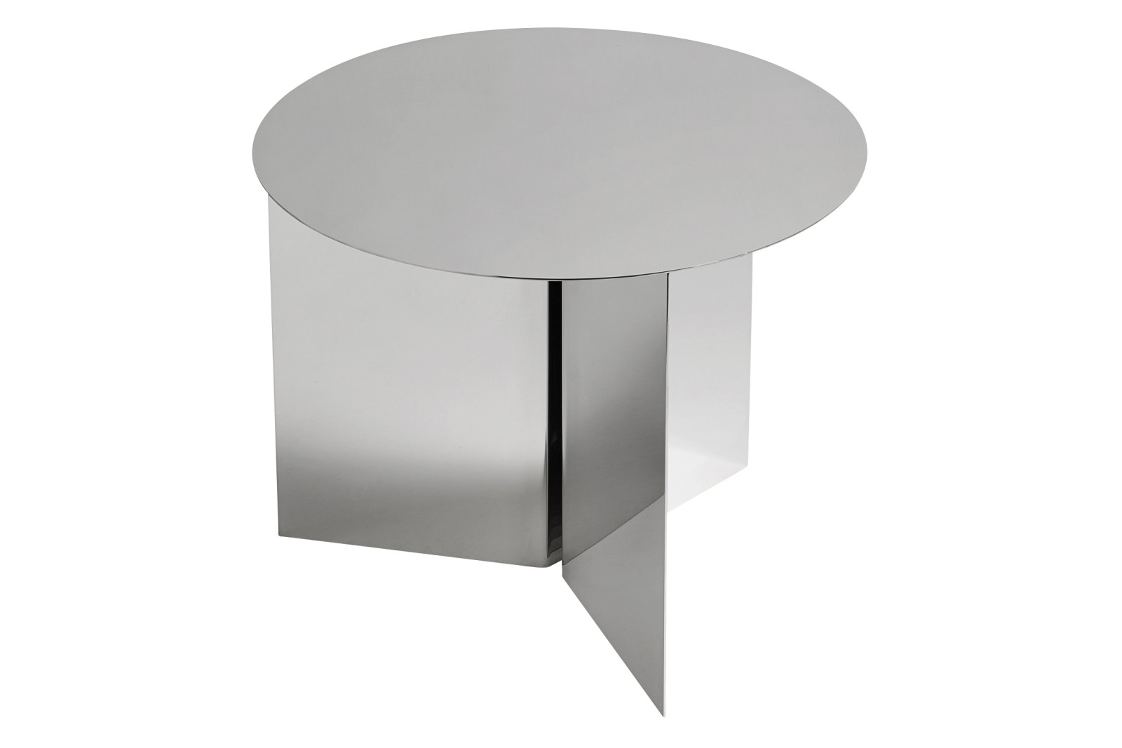 Slit Round Side Table Mirror, 045 cm