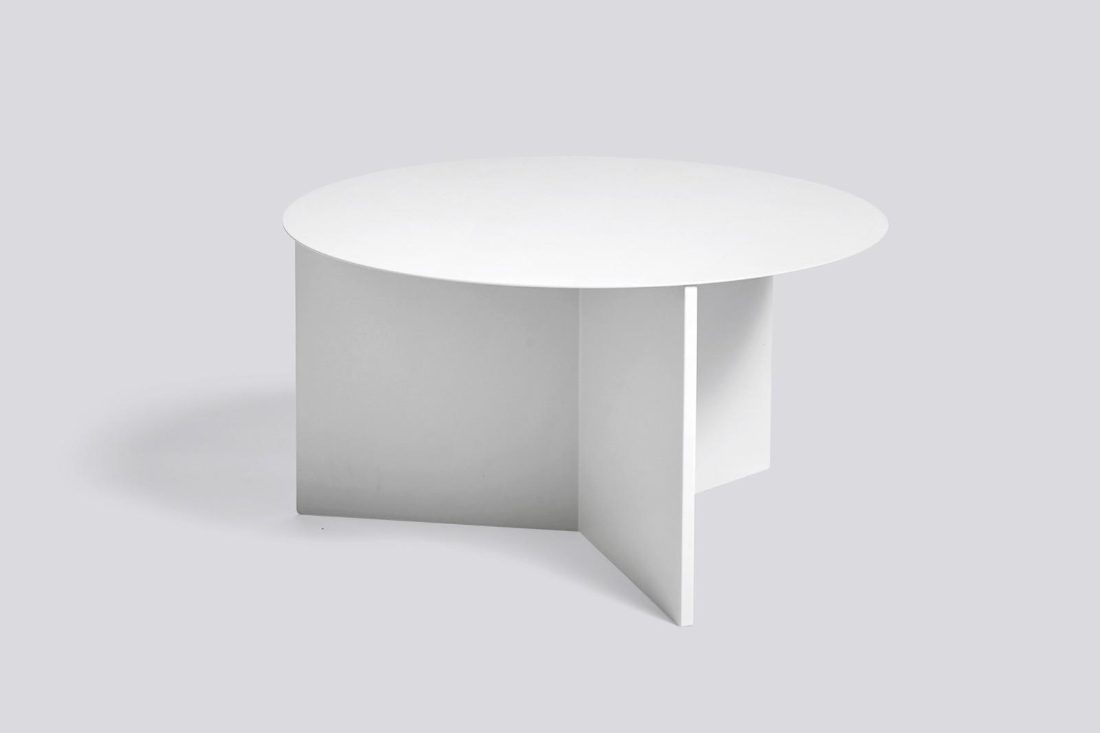 Slit Round Side Table White, 065 cm