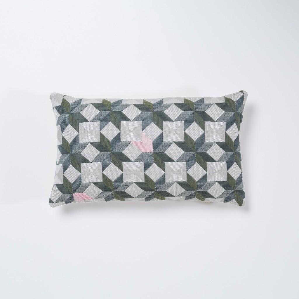 Small Stars Rectangular Cushion Green