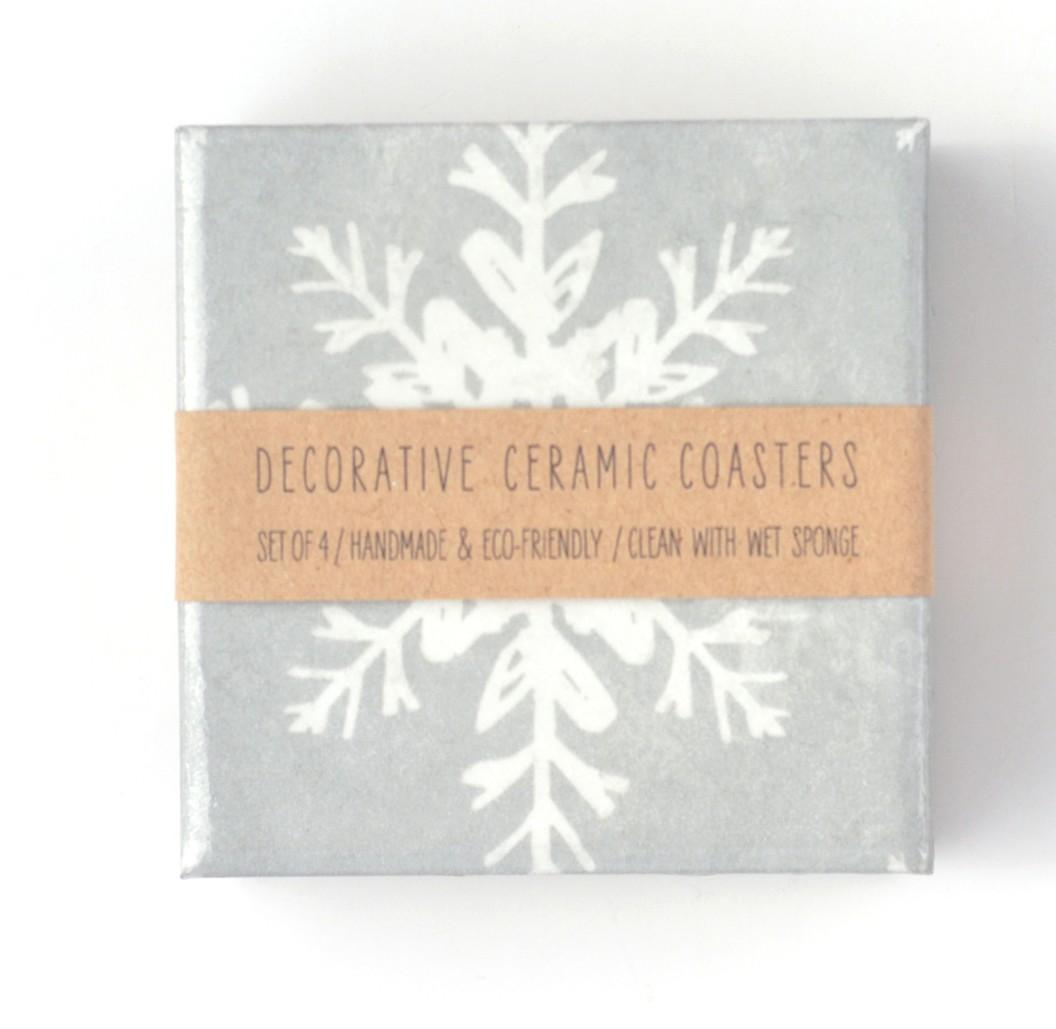 Snowflake Ceramic Coasters